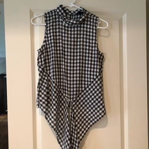Ann Taylor gingham blouse